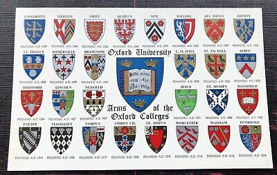 £2.70 • Buy Arms Of The Oxford Colleges Oxford Oxfordshire Post Card