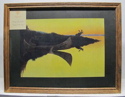 $ CDN1.20 • Buy Antique 1908 Frederic Remington Artist's Proof BULL MOOSE Coming To The Call Yqz