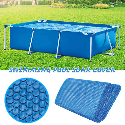 £13.39 • Buy 1x Solar Pool Cover For Frame Pools Heat Insulation Film With PE Bubble Blue