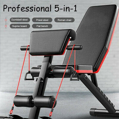 £49.99 • Buy Foldable Weight Bench Sit Up Bench Fitness Adjustable Machines Home Training Gym