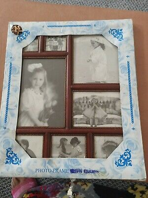 £4.99 • Buy Family 8 Multi Aperture Photo Picture Frame Holds 8 Photos Different Sizes