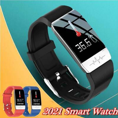 AU37.89 • Buy Smart Watch FitBit Thermometer Health Activity IP67 Fitness Tracker Sport ECG *