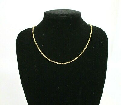 £19 • Buy Yellow Gold Hallmarked 375 Chain Necklace 9K Gold Necklace