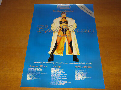 £55 • Buy Fantazia - The House Collection - Club Classics Volume 3 - 1997 Uk Promo Poster