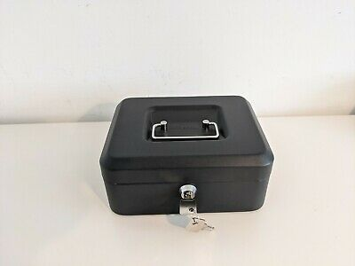 £5.99 • Buy Cathedral 8  Inch Money Box Cash Lockable Security Safe Tin Grey