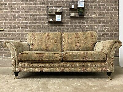 £799 • Buy Parker Knoll Burghley Large 2 Seater Sofa In Gold Medallion Floral Fabric