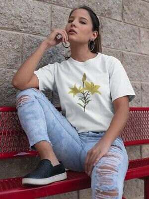 AU18.68 • Buy Summer Yellow Tiger Lily Flower Women's Tee -Image By Shutterstock