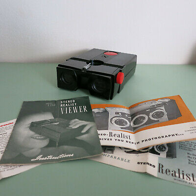 £10.62 • Buy David White - Realist 3D Stereo Slide Viewer / Red Button / Stereoscopic