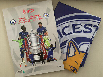 £23.95 • Buy 2021 FA Cup Final Programme & Official 3 X 5 Ft Flag **LCFC**Leicester City FC