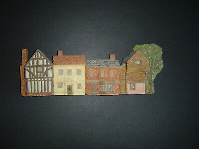 £20 • Buy Clarecraft Pottery Row Of Houses, Wall Plaque