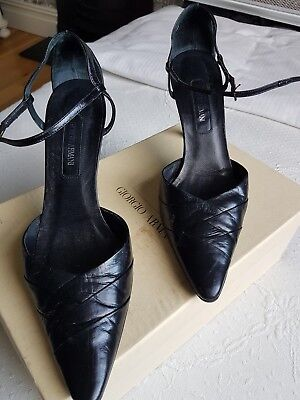 £14 • Buy Giorgio Armani Women's Leather High Heeled Shoes In Size 36
