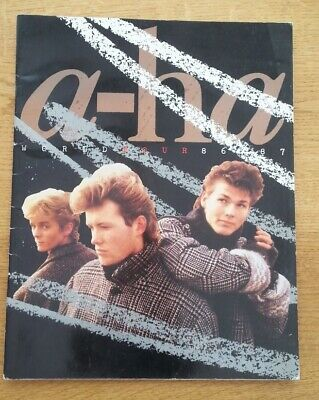 £39.95 • Buy A-HA Scoundrel Days 1986/87 Tour Programme Book Size:14x11 Inches With 28 Pages
