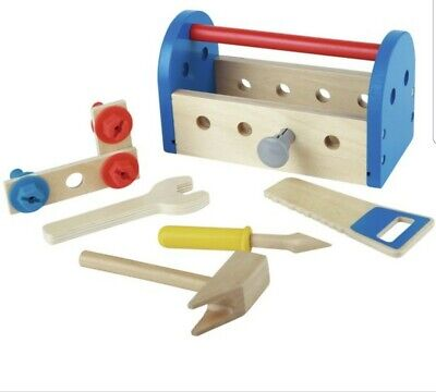 £4.99 • Buy Chad Valley Wooden Tool Box Toy Boy Girl Play