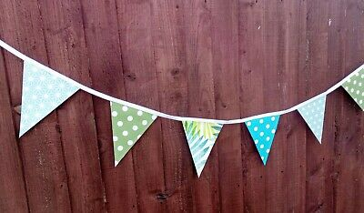 £8.99 • Buy 🌴 Handmade Tropical 6ft Double Sided Oilcloth/pvc Bunting Garden In/outdoor 🌺