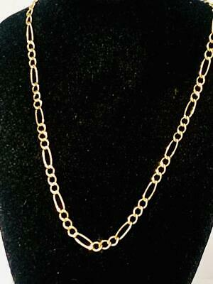 £89.99 • Buy Stunning 9ct Gold Ladies Womans 16  Figaro Link Necklace Chain Jewelery 9k 375