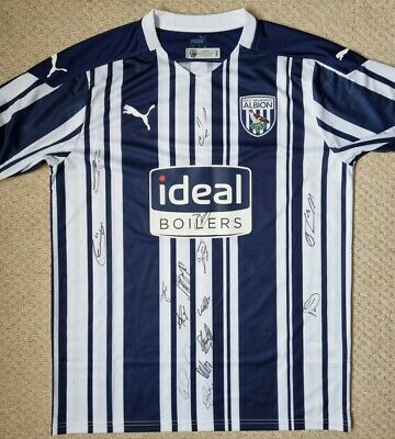 £50 • Buy Signed West Bromwich Albion Shirt 2020/21 Season WBA Certificate Of Authenticity