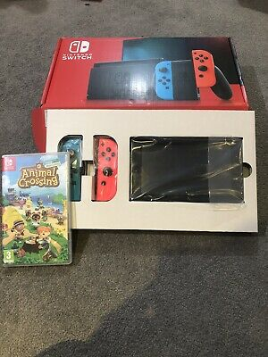 $ CDN471.76 • Buy Nintendo Switch Console V2 With Animal Crossing Game. In Excellent Condition