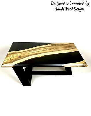 £99 • Buy Walnut And Black Resin Coffe Table.