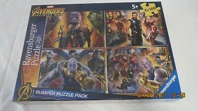 £5 • Buy Ravensburger 4 Puzzles Marvel Adventures Infinity War Ages 5+ Lot 1 Of 2 New