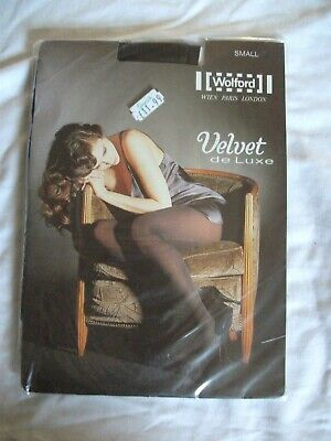 £3.24 • Buy Co Co Dark Brown Velvet De Luxe Opaque Tights Size Small Wolford Nwot