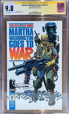£6.02 • Buy MARTHA WASHINGTON GOES TO WAR #1 CGC SS 9.8 Signed By Frank Miller