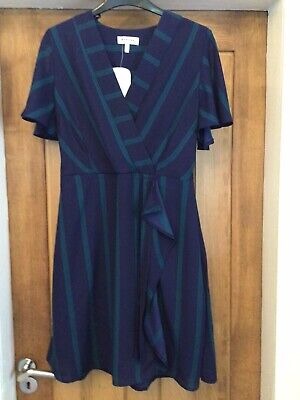 £7.99 • Buy Bnwt Navy Stripe Casual Short Dress By Monteau Size 14 From Tk Max