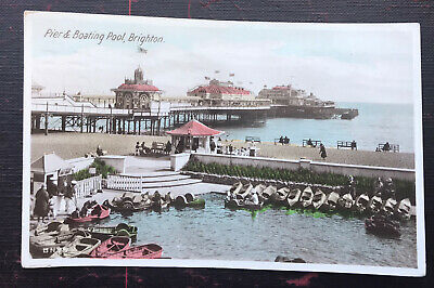 £4.60 • Buy Pier And Boating Lake Brighton Sussex Post Card