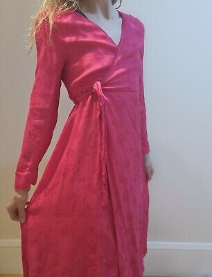 £12.50 • Buy Topshop Red Silky Maternity Wrap Tie  Dress Size 10