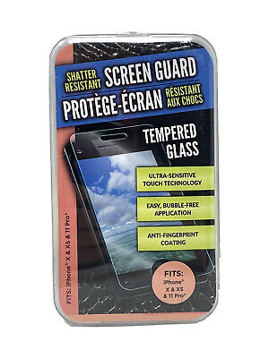 AU2.75 • Buy Shatter Resistant Glass Screen Protector IPhone X XS & 11 Pro