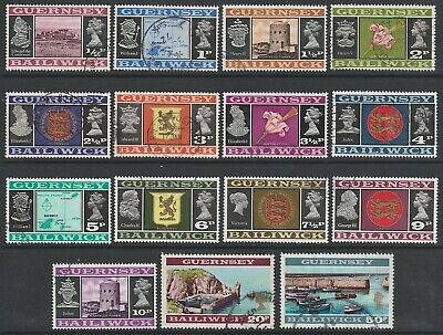 £1 • Buy Guernsey 1971/73 Definitive Views Sg44/58 Set Of 15 Nice/fine Used