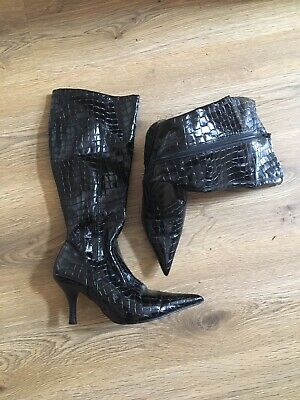 £7 • Buy Red Herring Black Knee High Boots Size 5