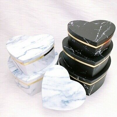 £12.30 • Buy 3x Heart Shaped Marbled Gift Box Cake Package Wedding Candy Wrapping Case Sets