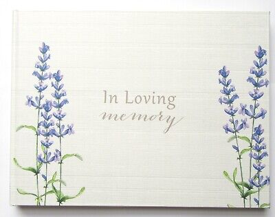 £10.95 • Buy Thoughts Of You Guest Book Of Condolence Loving Memory Funeral Lavender Design