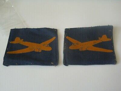 £45 • Buy Matching Pair Of Original Tunic Removed WW2 Cloth Air Dispatch Formation Patches