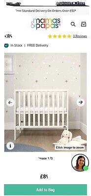 £50 • Buy Mamas And Papas Petite Cot White And Mattress 2 Avaliable (used)