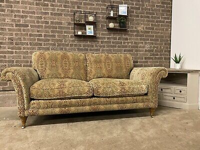 £699 • Buy Parker Knoll Burghley Large 2 Seater Sofa In Gold Medallion Fabric