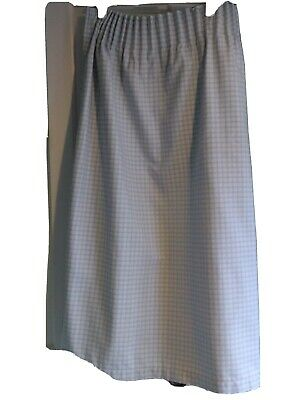 £16.49 • Buy Vintage Country Laura Ashley Curtains & Fabric Duck Egg Blue Gingham Check Used