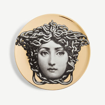 £175 • Buy AUTHENTIC FORNASETTI Tema E Variazioni Wall Plate - No. 217 - Gold RRP £225