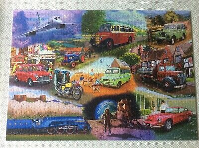 £3.50 • Buy GIBSONS 1000 PIECE JIGSAW PUZZLE.  ICONIC ENGINES By Mat Edwards COMPLETE.