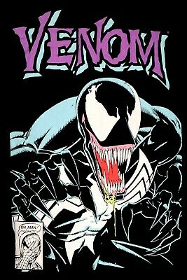 £14.17 • Buy Venom Classic Comic Book Cover L T-Shirt Graphic Tee Marvel Spider-Man Issue 299