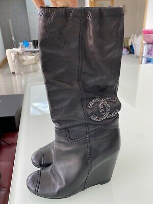 £395 • Buy Chanel Wedge Boots Size 37