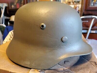 $275 • Buy M  35 German Helmet With Original Liner And Chinstrap Pieces Makers Mark Q64.