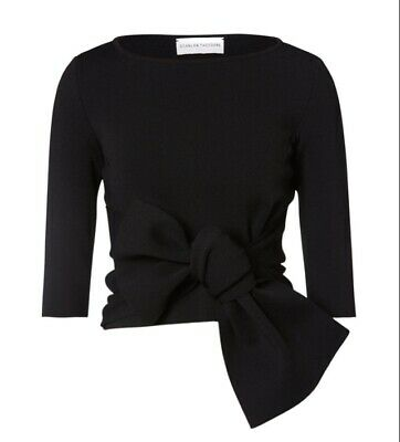 AU82 • Buy Scanlan Theodore Crepe Knit Front Tie Top Size XS