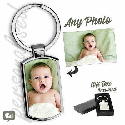 £4.20 • Buy Personalised PHOTO Keyring Free Gift Box - Add Custom Picture Or Logo Keychain
