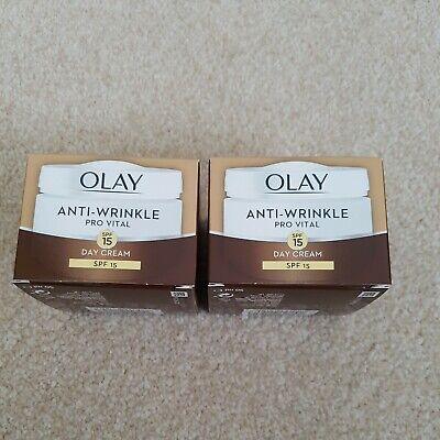 £10 • Buy 2 Boxes Of Olay Anti-wrinkle Pro Vital SPF 15 Face Day Cream - 50ml Each