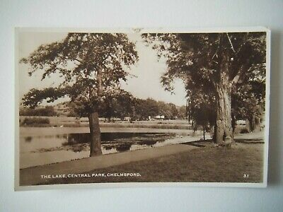 £3.50 • Buy The Lake Central Park Chelmsford 1960s RP Old Postcard Real Photograph 1960