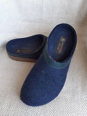 £42.99 • Buy Haflinger Grizzly Torben Slippers In Blue Size 41