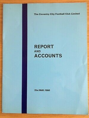 £3.80 • Buy Coventry City  FC Genuine Directors Report & Accounts May 1980