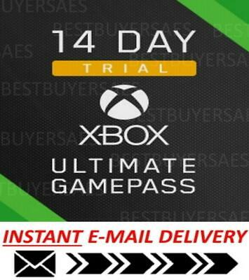 $ CDN8.40 • Buy FINALLY XBOX LIVE 14 Day GOLD ULTIMATE + 14 DAY GAME PASS 2 WEEKS INSTANT DISPAT