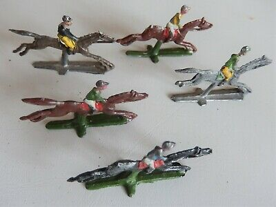 £9.99 • Buy 5 Painted Lead Racing Horses From The CHAD VALLEY Board Game ESCALDO 1940-50